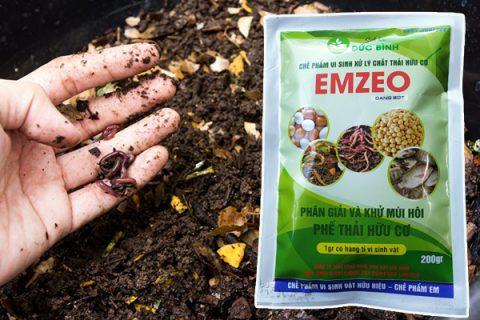 Chất thải hữu cơ được khử mùi và phân hủy thành phân hữu cơ