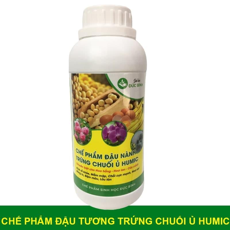 Chế phẩm đậu nành ủ trứng chuối humic