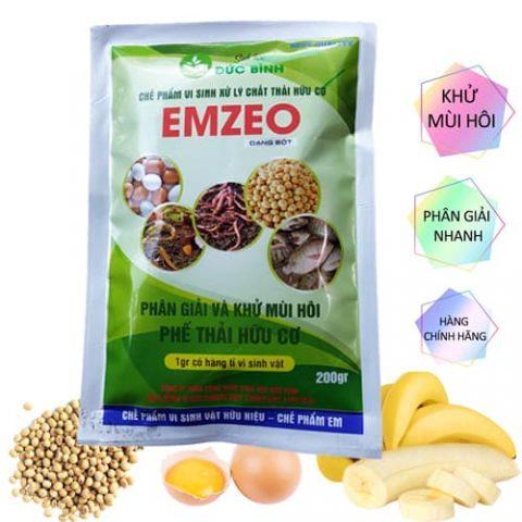 Chế phẩm vi sinh xử lý chất thải hữu cơ EMZEO - Phân giải và khử mùi hôi phế thải hữu cơ tốt nhất hiện nay