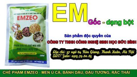 Emzeo là chế phẩm EM gốc dạng bột được sử dụng để sản xuất ra EM thứ cấp