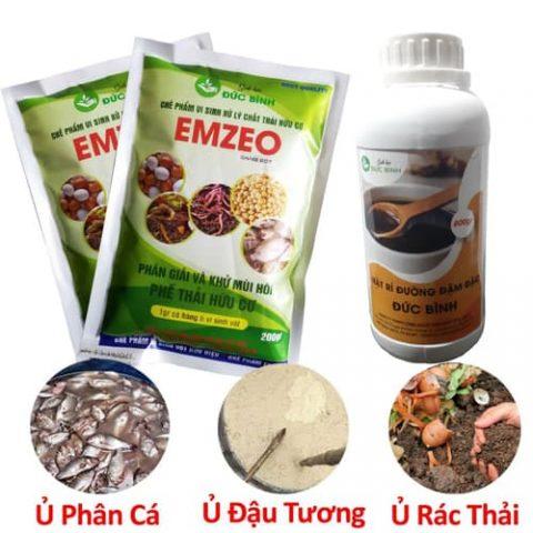 Emzeo được sử dụng để khử mùi hôi phân đậu tương, phân cá, khử mùi rác thải hữu cơ ... cực kỳ hiệu quả
